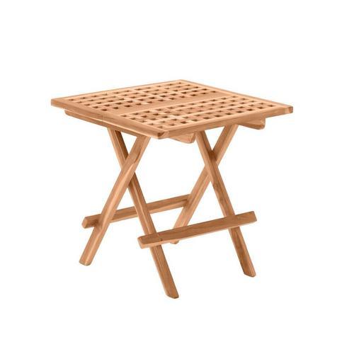 Möbilia »Flair« Gartentisch Teakholz / quadratisch