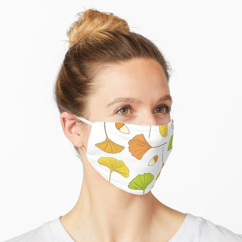 Ginkgo-Baum-Muster Maske