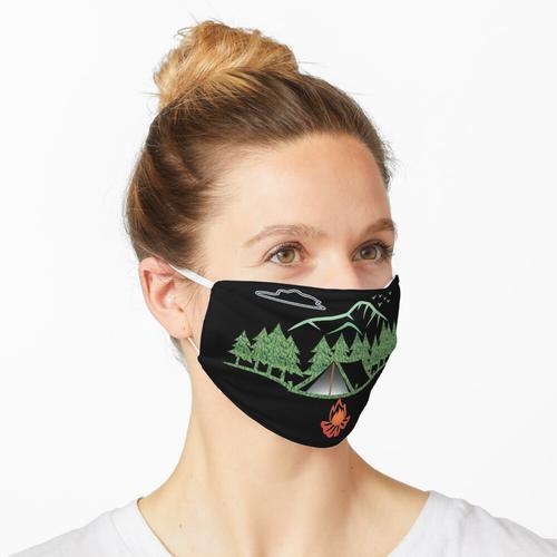 Zelt in den Bäumen & Bergen Maske