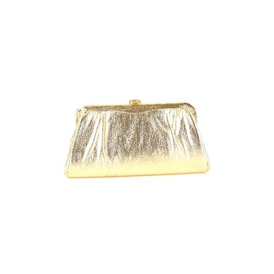 Clutch: Gold Solid Bags