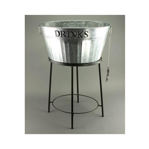 VOSS Design »Drinks« Zinkwanne silber/schwarz