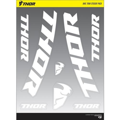 Thor Bike Trim Aufkleber Set, schwarz-weiss