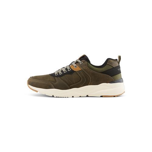 TOM TAILOR Herren Sneaker mit breiter Sohle, grün, Gr.45