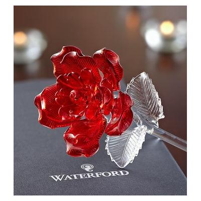 Waterford® Glass Rose Waterford® Red Glass Rose by 1-800 Flowers