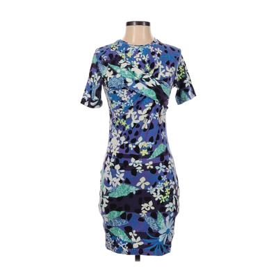 Peter Pilotto for Target Casual Dress - Sheath: Purple Floral Dresses - Used - Size Small Petite