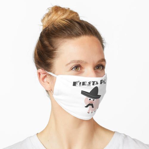 Lustiges Fiesta-Schwein Maske
