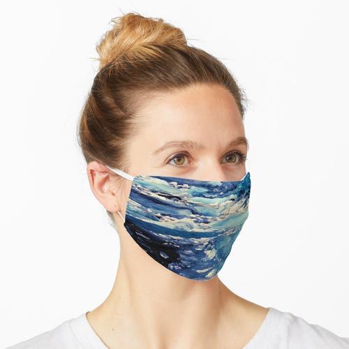 Blaues Gletschereis Maske
