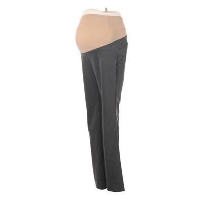 Motherhood Dress Pants - Mid/Reg Rise: Gray Bottoms - Size X-Small Maternity