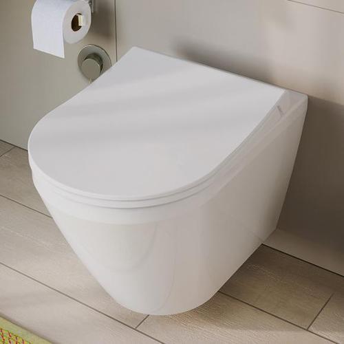 VitrA Aquacare Integra Wand-Tiefspül-WC-Set mit Bidetfunktion L: 54 B: 35,5 cm, mit WC-Sitz 7041B003-6200
