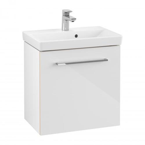 Villeroy & Boch Avento Waschtischunterschrank B: 53 H: 51,4 T: 35,2 cm, 1 Tür, Anschlag links Front crystal white / Korpus crystal white A88800B4