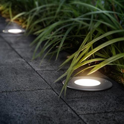 PHILIPS myGarden Moss LED Erdeinbaustrahler Ø 11,4 H: 11,5 cm, edelstahl geb./satiniert 173064716, EEK: A+