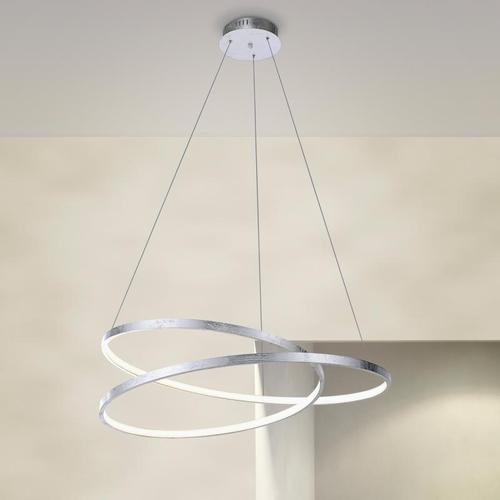 Paul Neuhaus Roman LED Pendelleuchte mit Dimmer Ø 72 H: 120 cm, silber 2474-21, EEK: A+