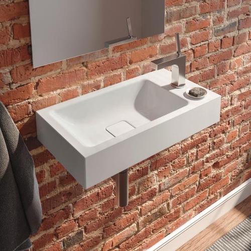 Kaldewei Cono Handwaschbecken B: 55 T: 30 cm, Becken links weiß, mit 1 Hahnloch 908006013001