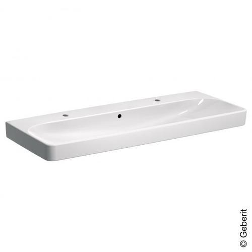 Geberit Smyle Square Doppelwaschtisch B: 120 T: 48 cm weiß 500253011