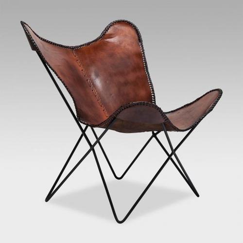 KARE Design Butterfly Econo Sessel B: 800 H: 870 T: 740 mm, braun 79823