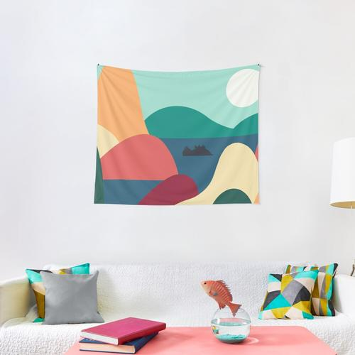 Avatar Gaang Simple Shapes Wall Tapestry