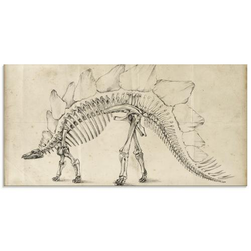 Artland Glasbild »Dinosaurier Lehre III«, Dinosaurier, (1 St.)