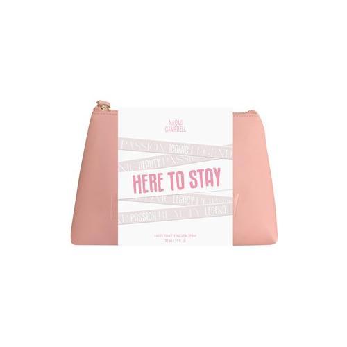 Naomi Campbell Damendüfte Here To Stay Geschenkset Eau de Toilette Spray 30 ml + Kosmetiktasche 1 Stk.