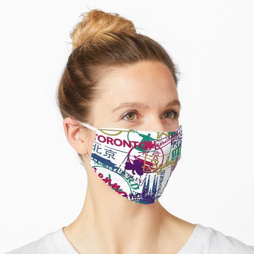 Reise City Passstempel Maske