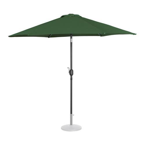 Uniprodo Sonnenschirm groß - grün - sechseckig - Ø 270 cm - neigbar