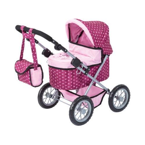 Puppenwagen Trendy rosa gepunktet