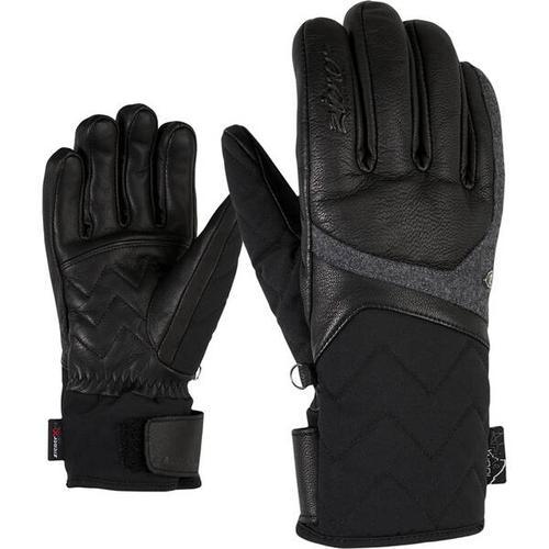 ZIENER Damen Handschuhe KRISTALL AS(R) AW, Größe 8,5 in black