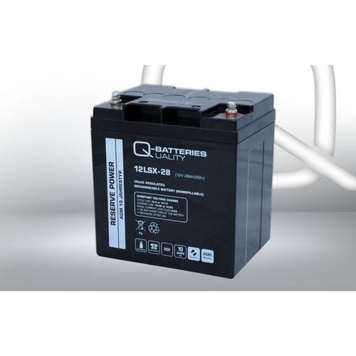 Q-Batteries 12LSX-28 12V 28Ah Blei-Vlies-Akku AGM 10 Jahre