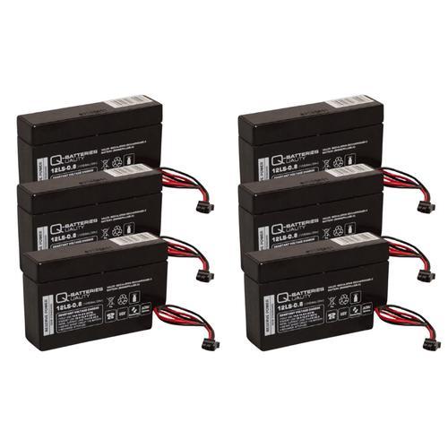 6x Q-Batteries 12LS-0.8 12V 0,8Ah AGM Blei-Vlies Akku Heim & Haus