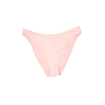 Forever 21 Plus Swimsuit Bottoms: Pink Solid Swimwear - Size 0 Plus