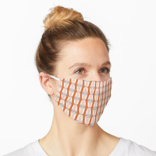Flip Cup Plastikbecher Muster in Orange Maske