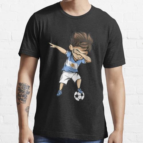 Tupfen Fußball Argentinien Trikot - Argentinischer Fußball Essential T-Shirt