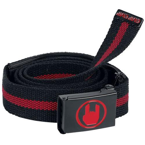EMP Basic Collection Schwarz/roter Gürtel mit Innentasche Gürtel - schwarz
