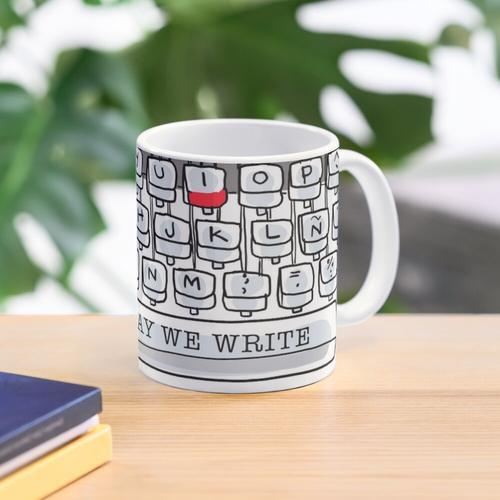 This day we write typewriter Mug