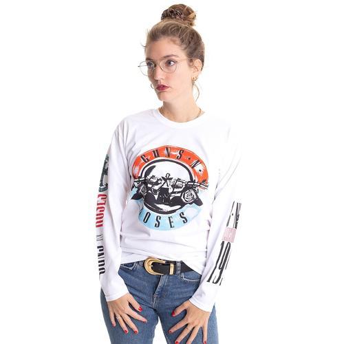 Guns N' Roses - Motorcross Logo White - Longsleeves