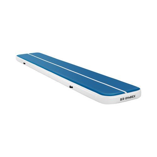 Gymrex Aufblasbare Turnmatte - Airtrack - 600 x 100 x 20 cm - 300 kg - blau/weiß GR-ATM7