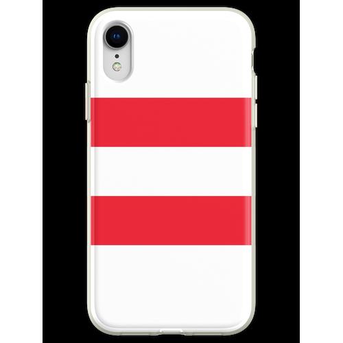Oesterreichische Fahne - Österreichische Flagge - Österreich T-Shirt Flexible Hülle für iPhone XR