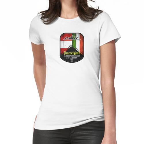Timmelsjoch Austria Sticker Frauen T-Shirt