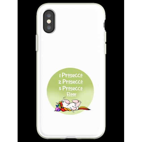 1 Prosecco, 2 Prosecco, 3 Prosecco, Boden, Flexible Hülle für iPhone XS