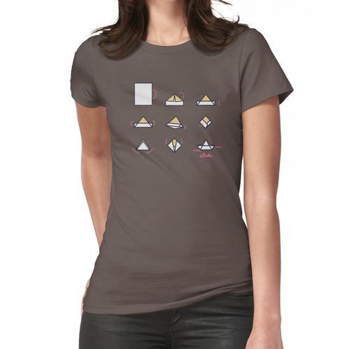 Papierboot Papier Boot Bastel Anleitung Frauen T-Shirt
