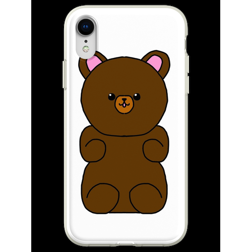 Teddybär flauschiges Stofftier Flexible Hülle für iPhone XR