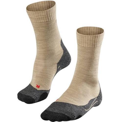 FALKE TK2 Damen Socken, Größe 39-40 in Nature Mel