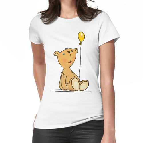 Teddybär mit gelbem Ballon Frauen T-Shirt