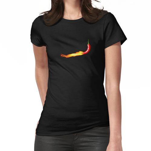 Paprikapfeffer auf Feuer Frauen T-Shirt