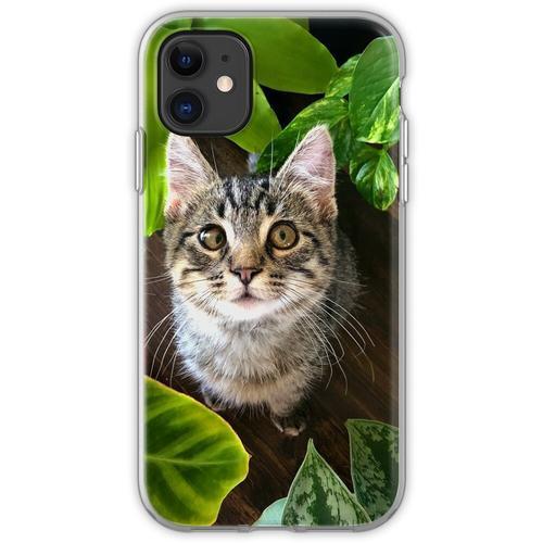 Pflanze Kätzchen Flexible Hülle für iPhone 11