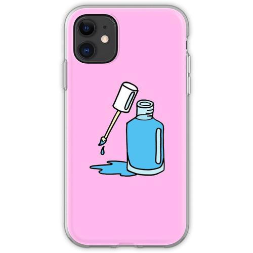 Blauer Nagellack Flexible Hülle für iPhone 11