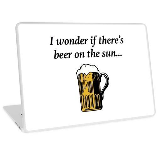 Bier auf der Sonne Laptop Skin