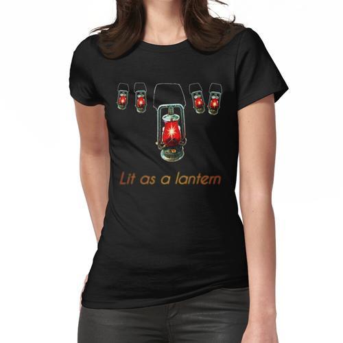 Als Laterne beleuchtet Frauen T-Shirt