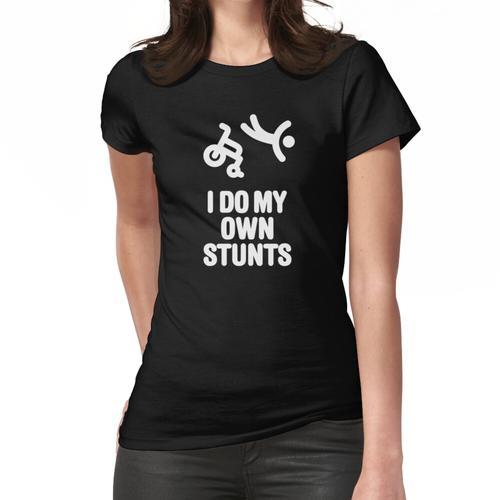 I do my own stunts Lustige Rennrollstuhl Rollstuhl Rennen Lustige Behindertensport Ha Frauen T-Shirt