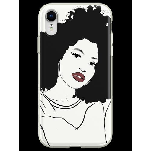 Roter Lippenstift und Diamantohrringe Flexible Hülle für iPhone XR