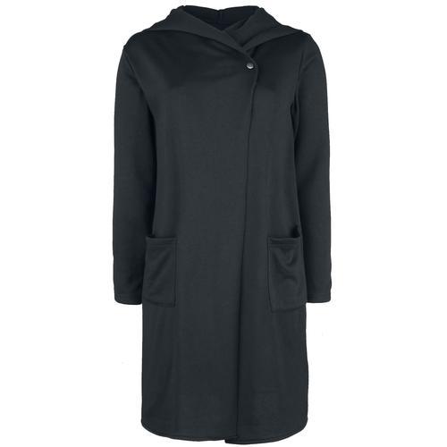 Forplay One Button Stretch Sweat Coat Damen-Mantel - schwarz